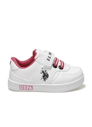 U.S. Polo Assn. Cameron 1Fx Kız Çocuk Sneaker Beyaz